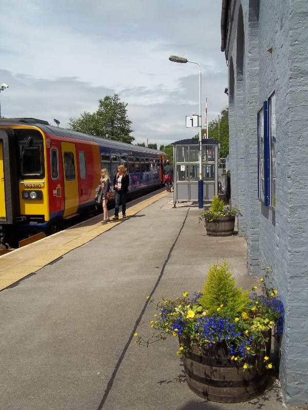 Passengers boarding the service at Blythe Bridge station
