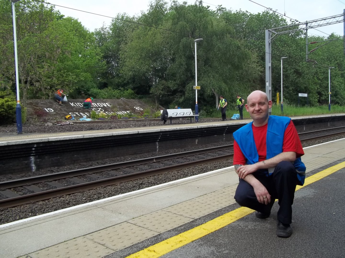 TESCO Community Champion Richard supports Kidsgrove station