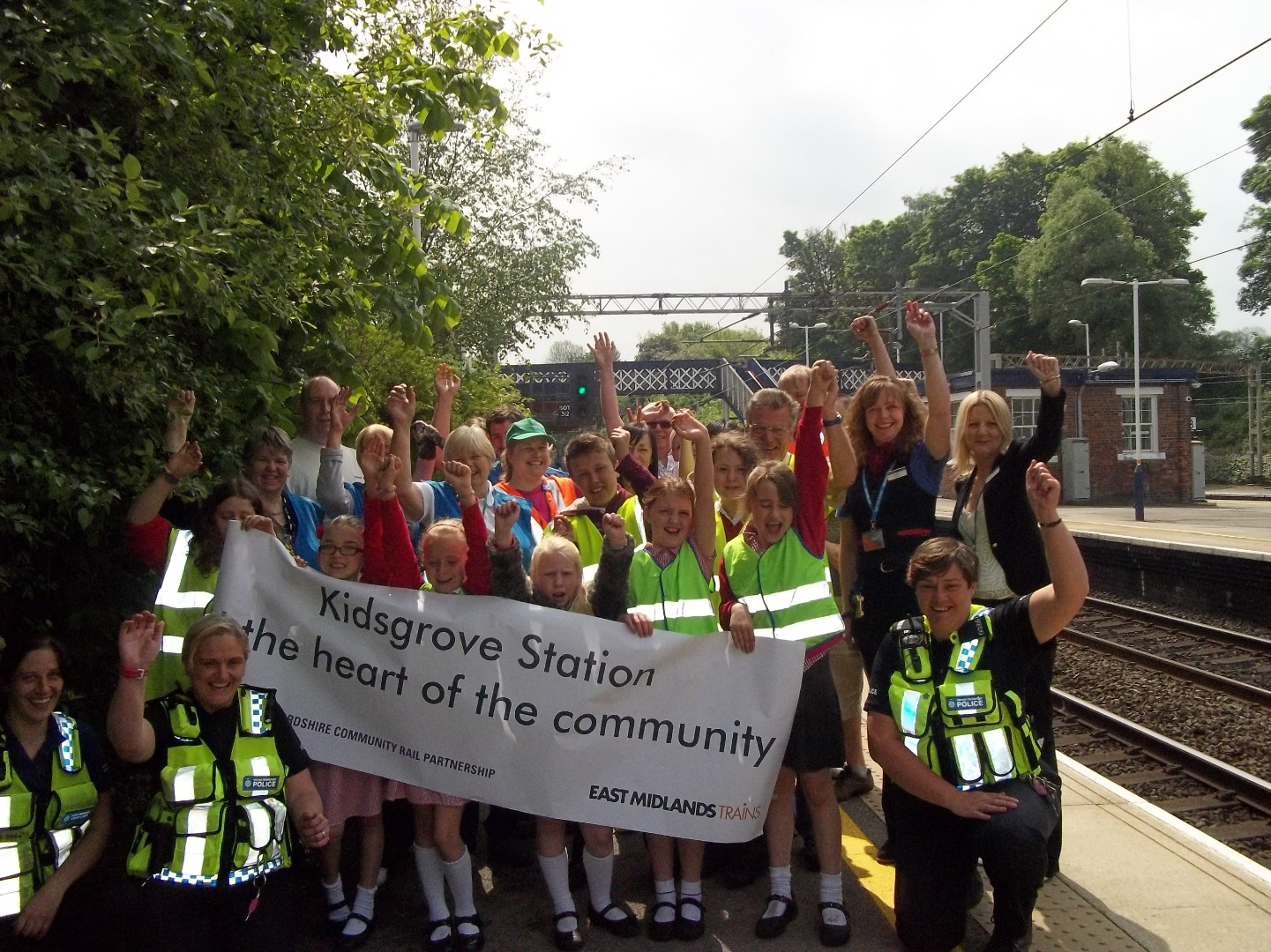 A great community day at Kidsgrove station