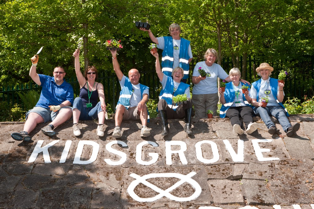 Station volunteers have created fantastic gardens at Kidsgrove